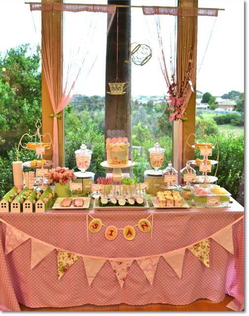 """Photo 24 of 26: Vintage Tea Garden Party / Birthday """"Sian's 1st Birthday Party"""" 