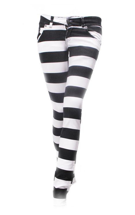 8601658bb4a07 Jist Black & White Prison Stripe Jeans £31.99 if I wore Pants I would wear  these pants