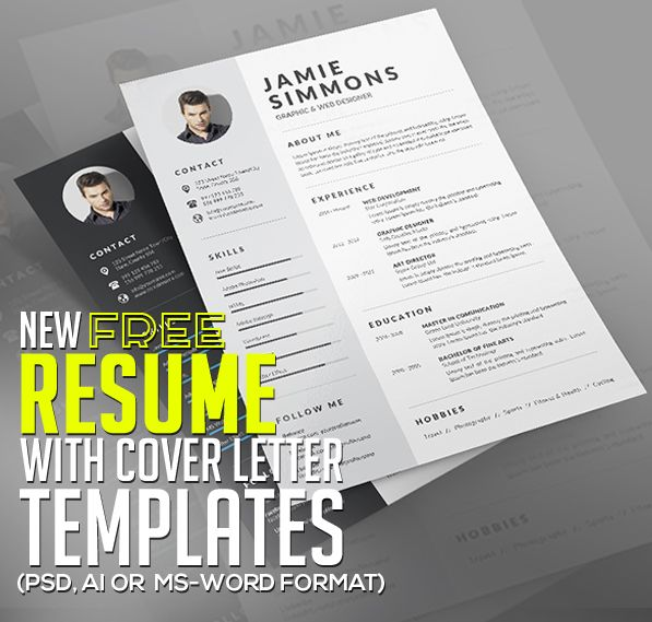 21 Fresh Free Resume Templates with Cover Letter CVu0027s - free resume cover letters
