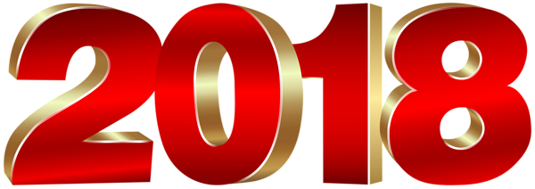 2018 Gold And Red PNG Clipart Image