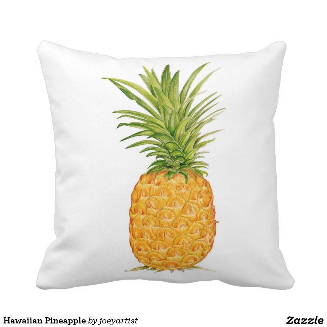 Hawaiian Pineapple Throw Pillow Zazzle Com Throw