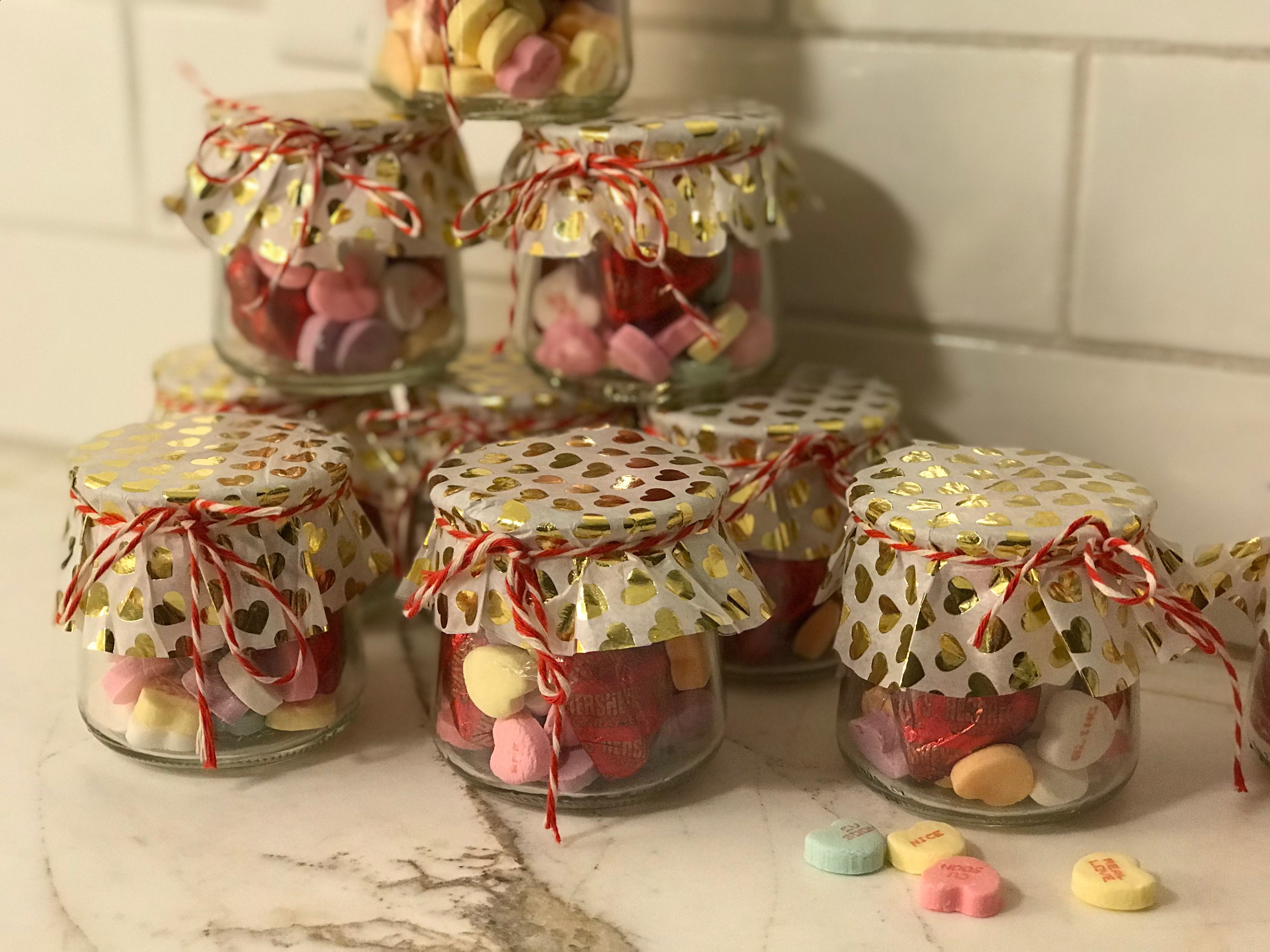 Happy Valentine Day J Aime Ca 1 More Idea For Yoplait Oui Jars Crafts With Glass Jars Baby Food Jar Crafts Jar Crafts