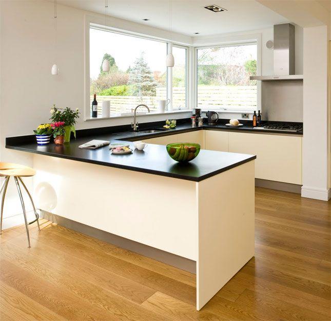 Modern L Shaped Kitchen Designs With Island: U Shaped Kitchen With Island
