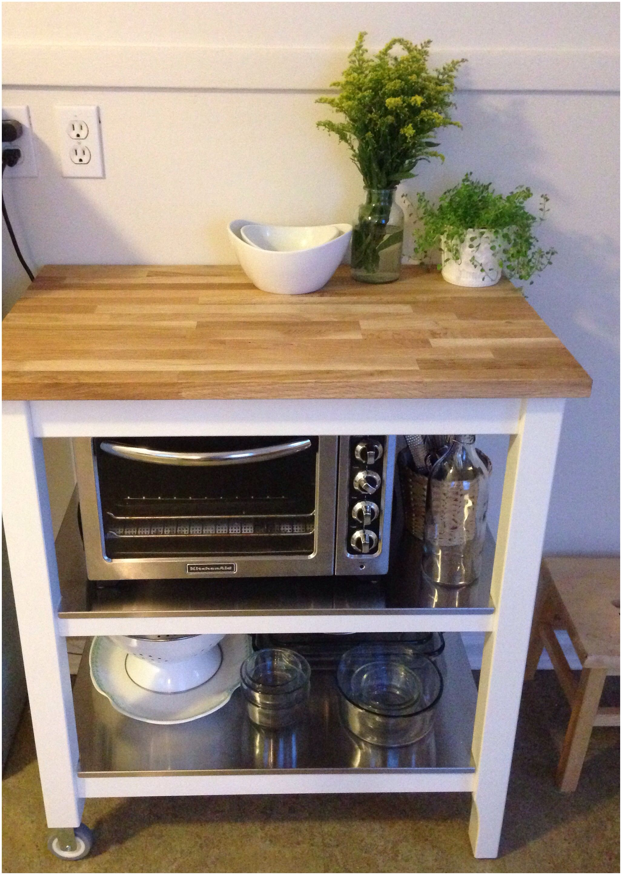 Microwave Kitchen Cart Rustic Chairs My New Ikea Stenstorp Is Everything I Dreamed