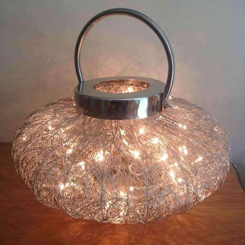 Wire Weave Lamp With Fairy Lights 3 Sizes With Images Fairy Lights Candle Room Lamp