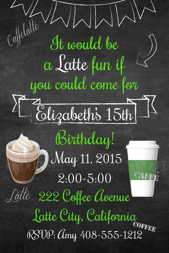Free Birthday Starbucks ~ Starbucks inspired birthday by welcometomystore on etsy cool stuff pinterest