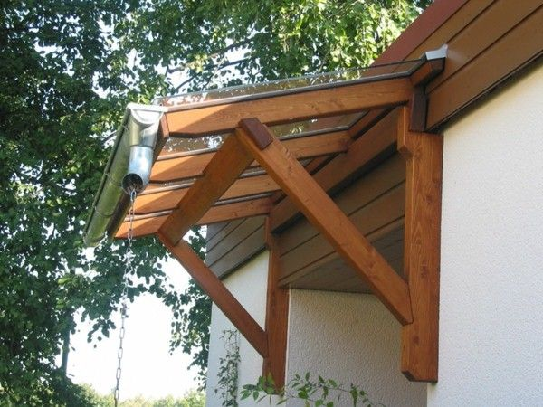 Canopy made of wood beautiful ideas decor10 blog for Porch canopy plans