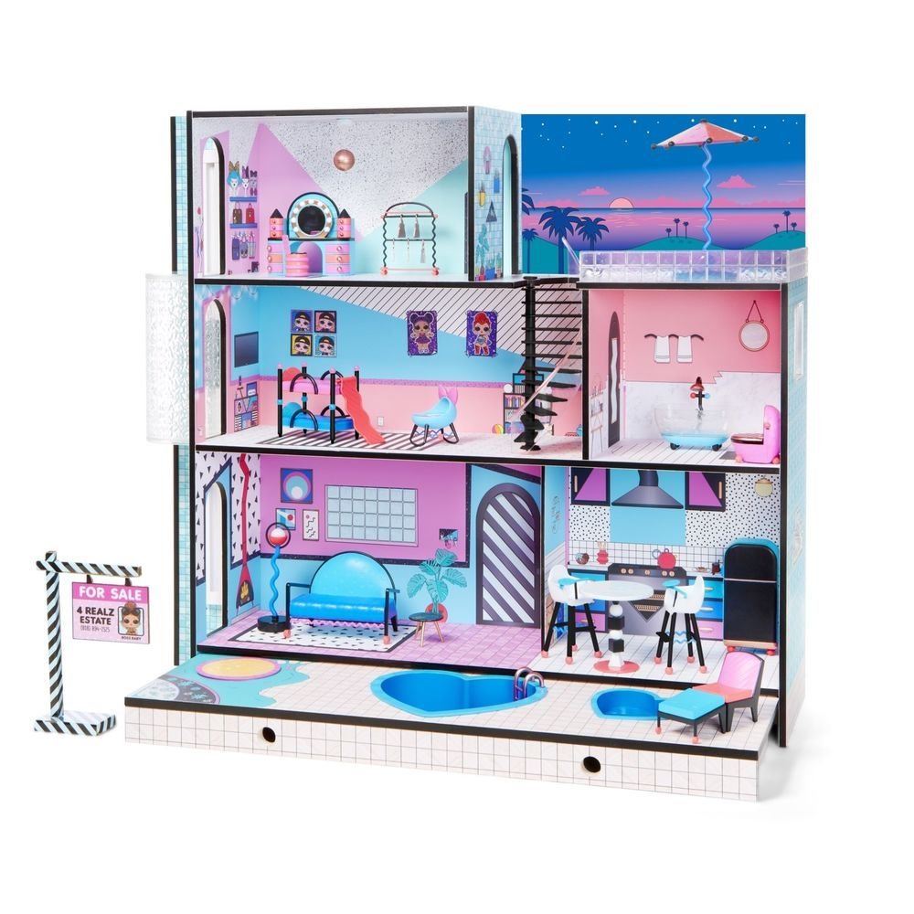 LOL SURPRISE DOLL HOUSE Made with REAL WOOD SURPRISES !!Children Birthday Gift