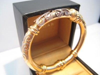 High End Gold Medical Jewelry Kt Solid Designer Fidia Gioielli Diamond Bangle Bracelet