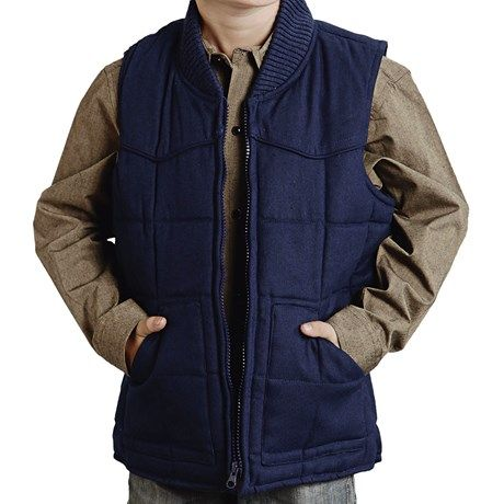 Roper Range Gear Quilted Vest Cotton Canvas For Little