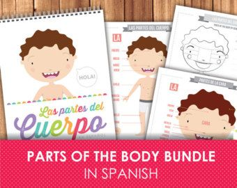 Spanish Flashcards for Kids / Printable Flash by LittleGraphics