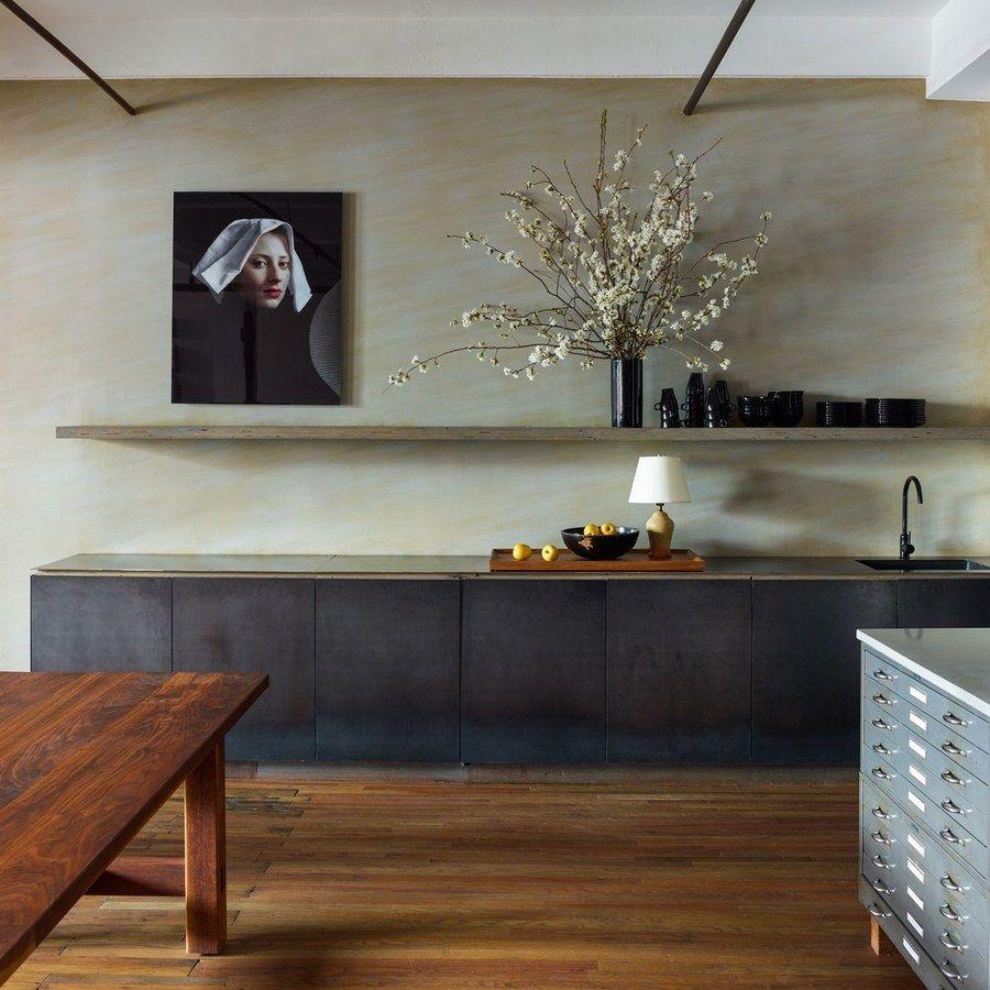 A Plywood Shelf In Designer Neal Beckstedt's Office