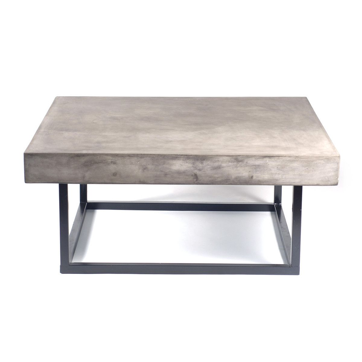 Mia concrete coffee table 1 for sv back patio 41 square for Concrete coffee table