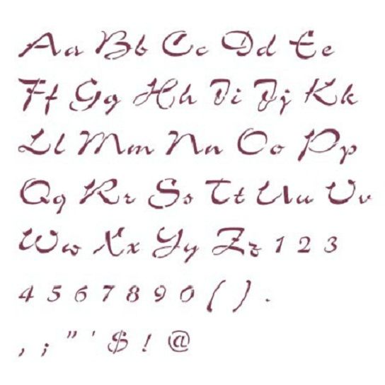 printable cursive letters numbers and special symbolsjpg 544