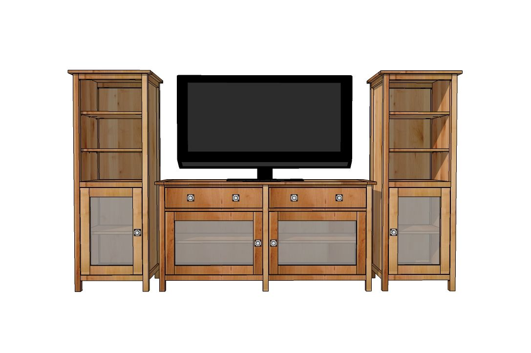 Benchmark Media Console Ana White Furniture Plans Easy