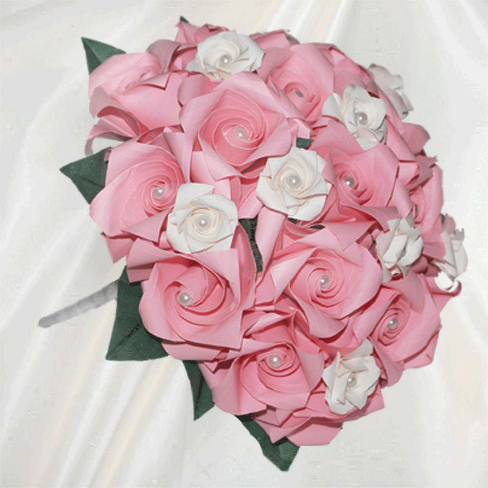 Origami Wedding Flowers: Buy Pink Wedding Flowers Posy