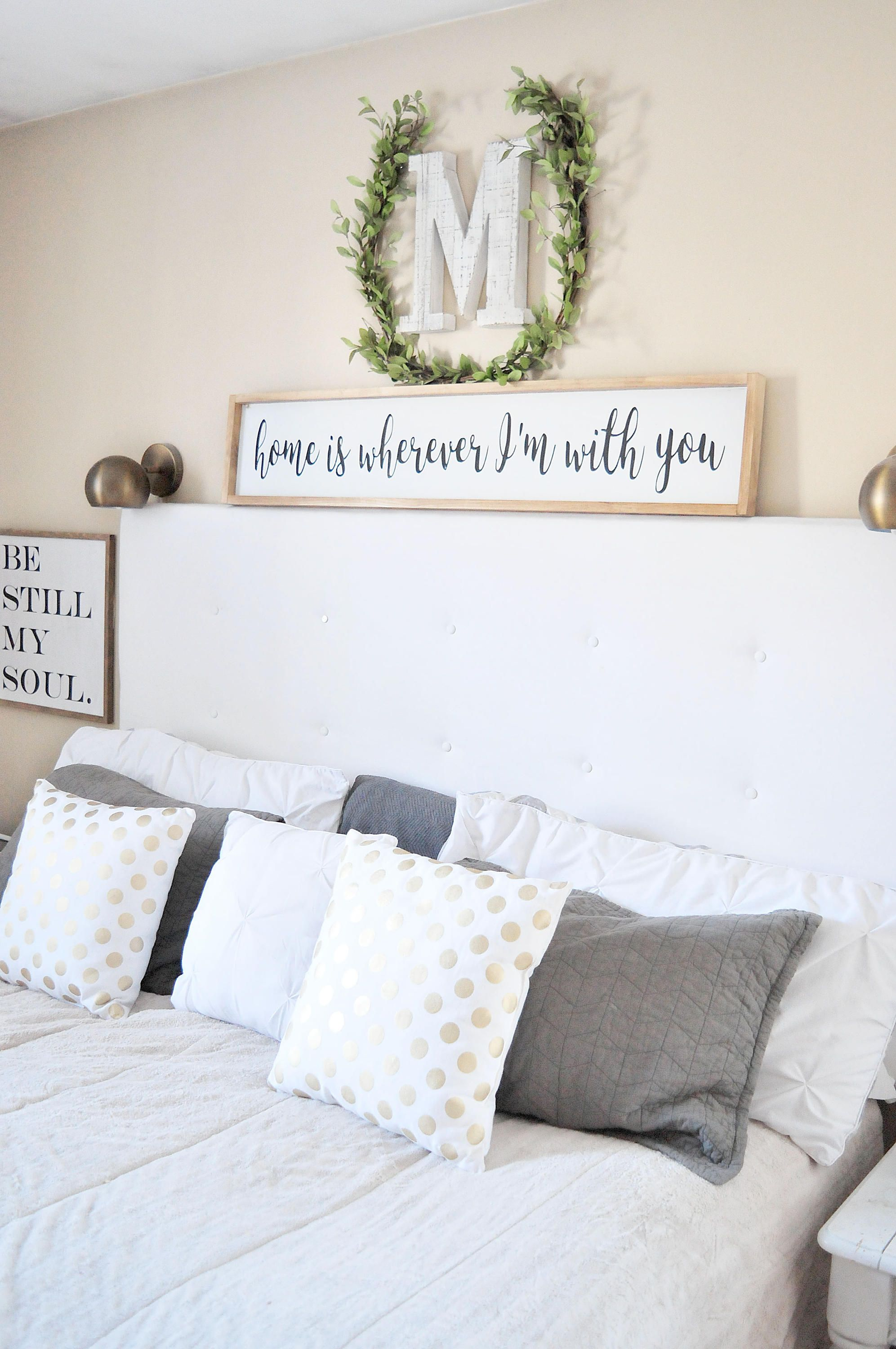 Home Is Wherever I\'m With You | Wood Sign | Bedroom | Couple ...