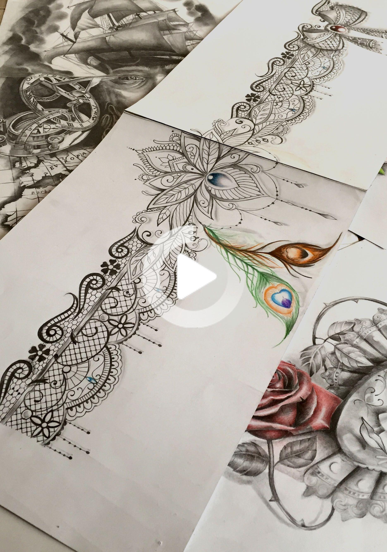 Dentelle In 2020 Lace Garter Tattoos Garter Tattoo Thigh Garter Tattoo