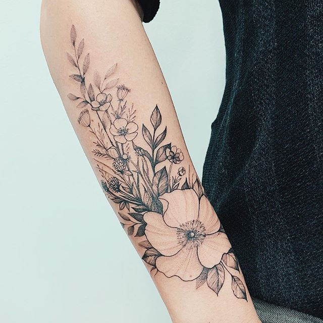 108 Gorgeous Floral Arm Tattoos Design Make You Elegance -   17 plants Tattoo arm ideas