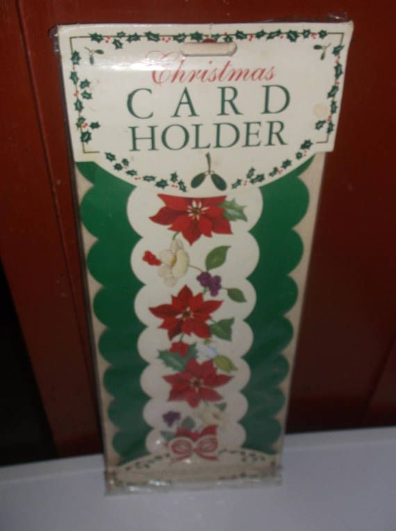 Vtg Christmas Card Holder Easy Attractive Display For Christmas