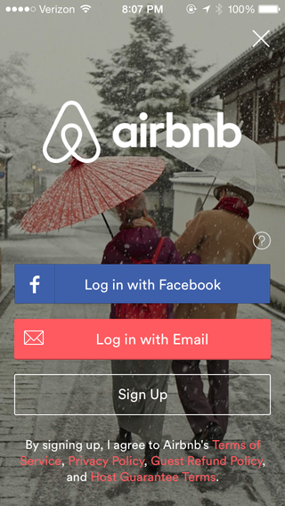Airbnb | 登录与注册 | Login design, Login page design, App login