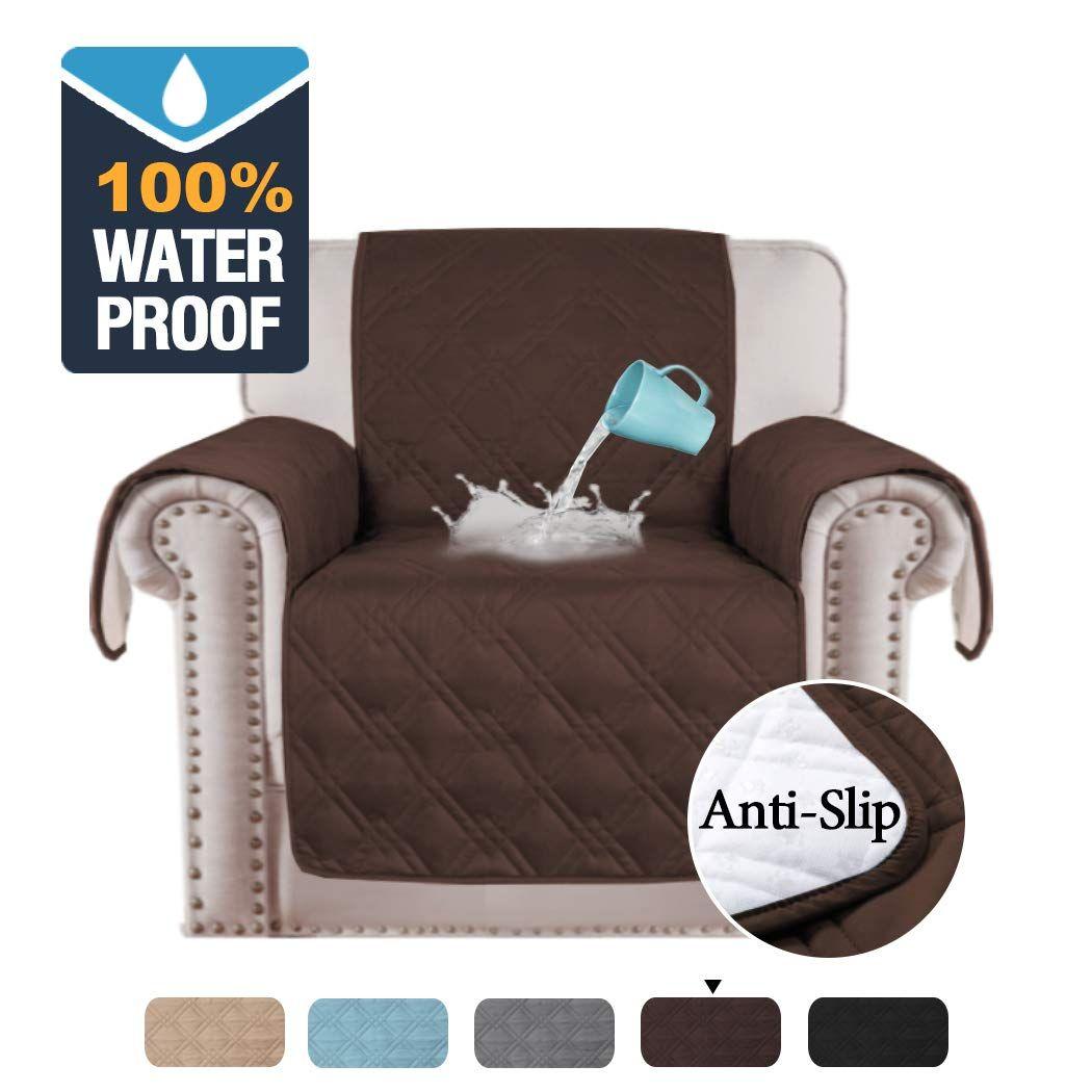 H Versailtex 100 Water Resistant Chair Slipcover Waterproof Furniture Protector Slip Reducing In 2020 Unique Chair Covers Chair Covers Slipcover Slipcovers For Chairs