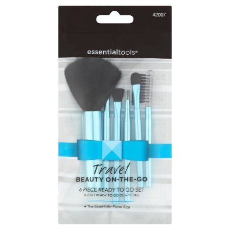 Essential Tools Travel Beauty On-the-Go Makeup Brush Set, 6 pc ...