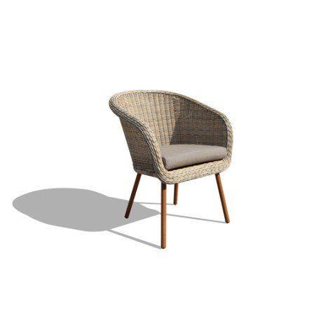 new england beige fauteuil jardin