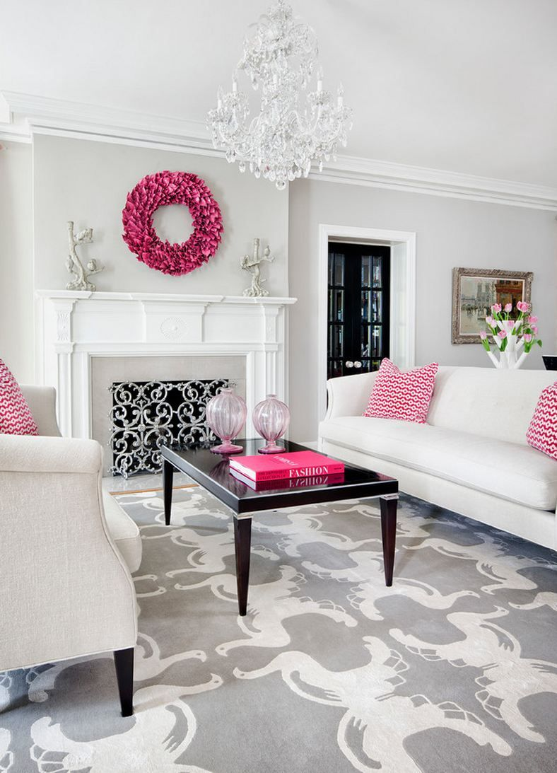 For the girly-girl in all of us! #healthyspaces #livingroom #pink ...