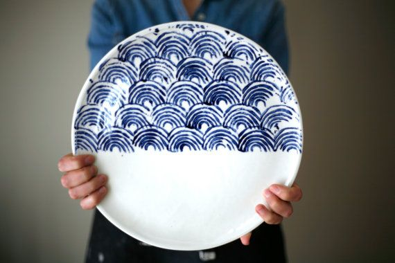 Large plate  Cheese plate  Serving plate / by ArtetManufacture