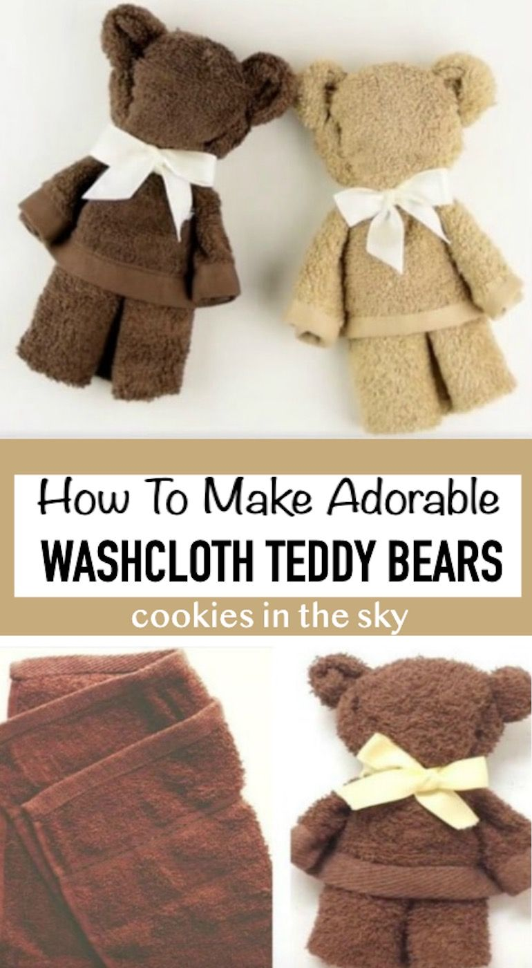 How To Make Washcloth Teddy Bear - Video | The WHOot