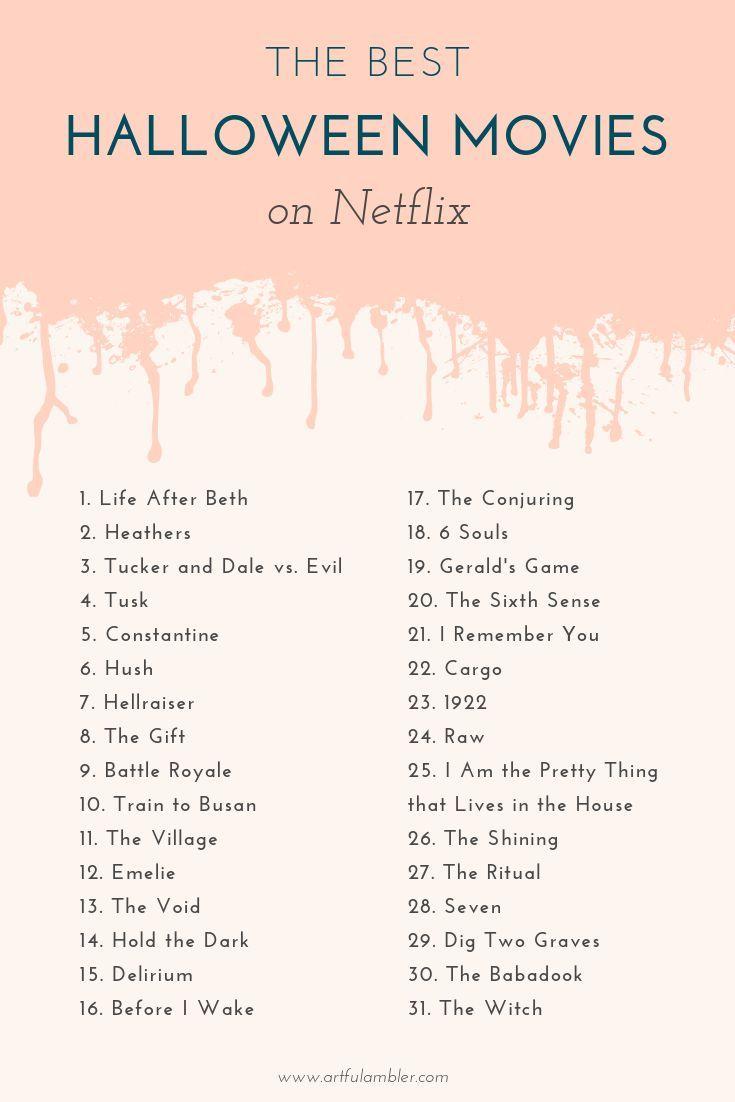 Countdown to Halloween on Netflix — the artful ambler