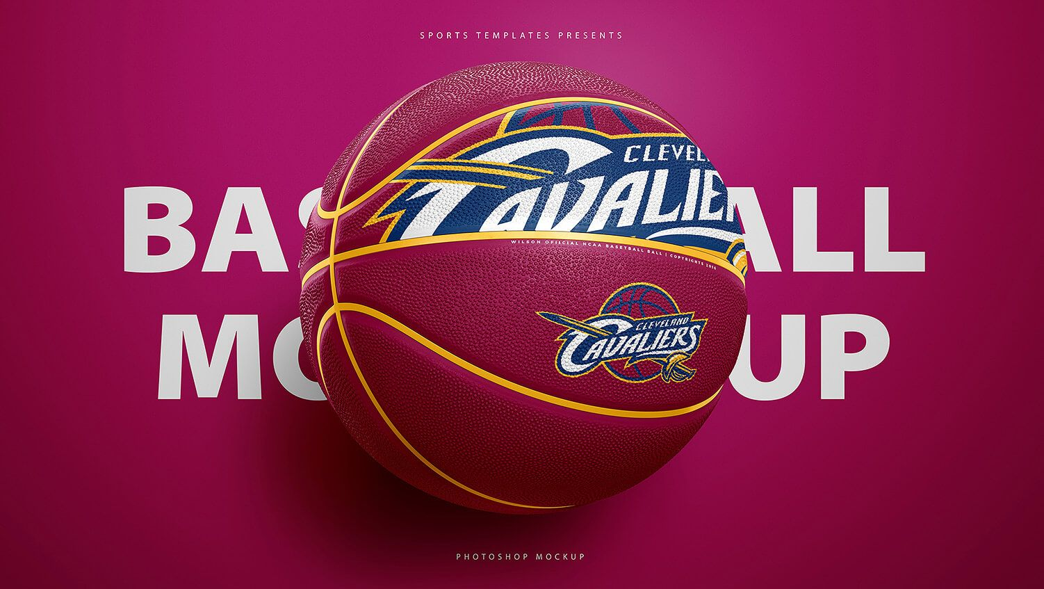 Download Cleveland Cavaliers Basketball Ball Psd Photoshop Mockup Template Basketball Ball Basketball Templates