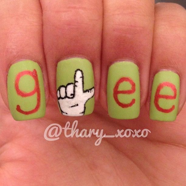 glee #nail #nails #nailart