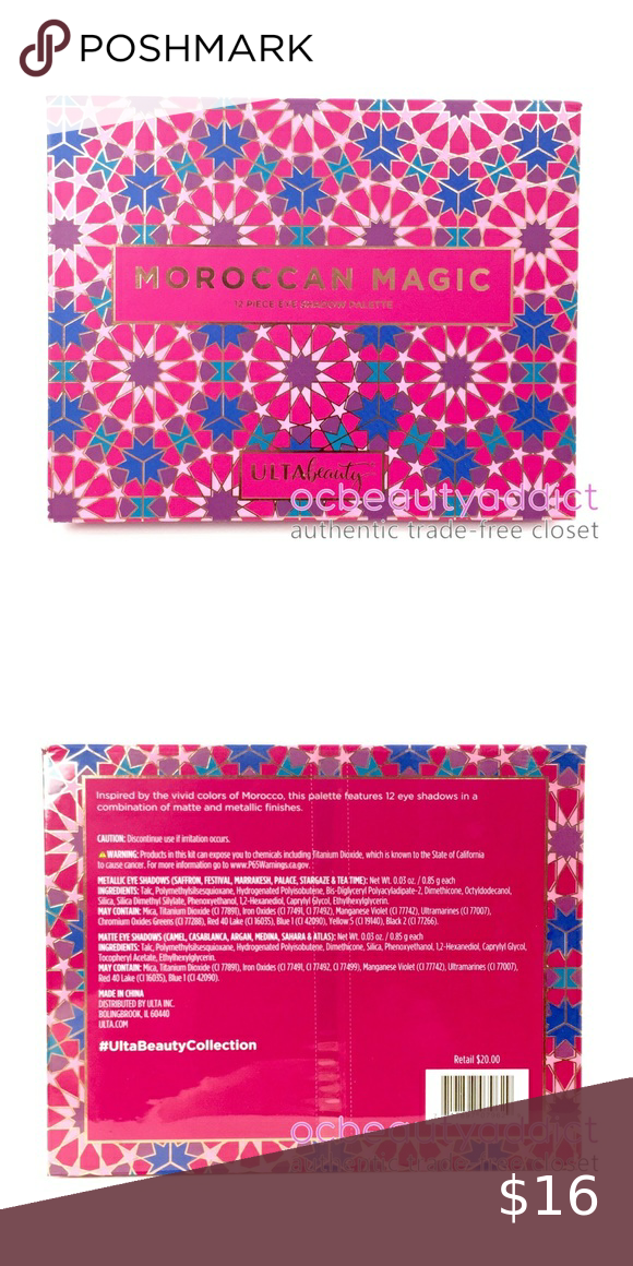 Ulta Beauty Moroccan Magic Eyeshadow Palette Inspired By The Vivid Colors Of Morocco This Palette Features 12 Eye S Ulta Beauty Eyeshadow Palette Vivid Colors