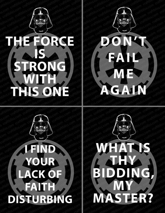 Darth Vader Quotes Prepossessing Star Wars Inspired Darth Vader Quotes Digital Printswww