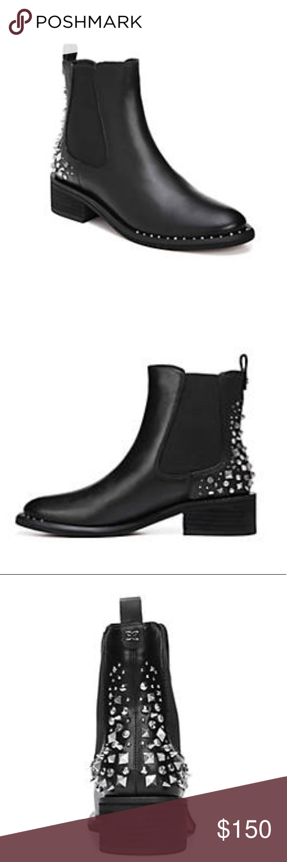 12a6657860c2 Sam Edelman embellished bootie Chelsea Dover bootie with spikes  embellishment Sam Edelman Shoes Ankle Boots   Booties