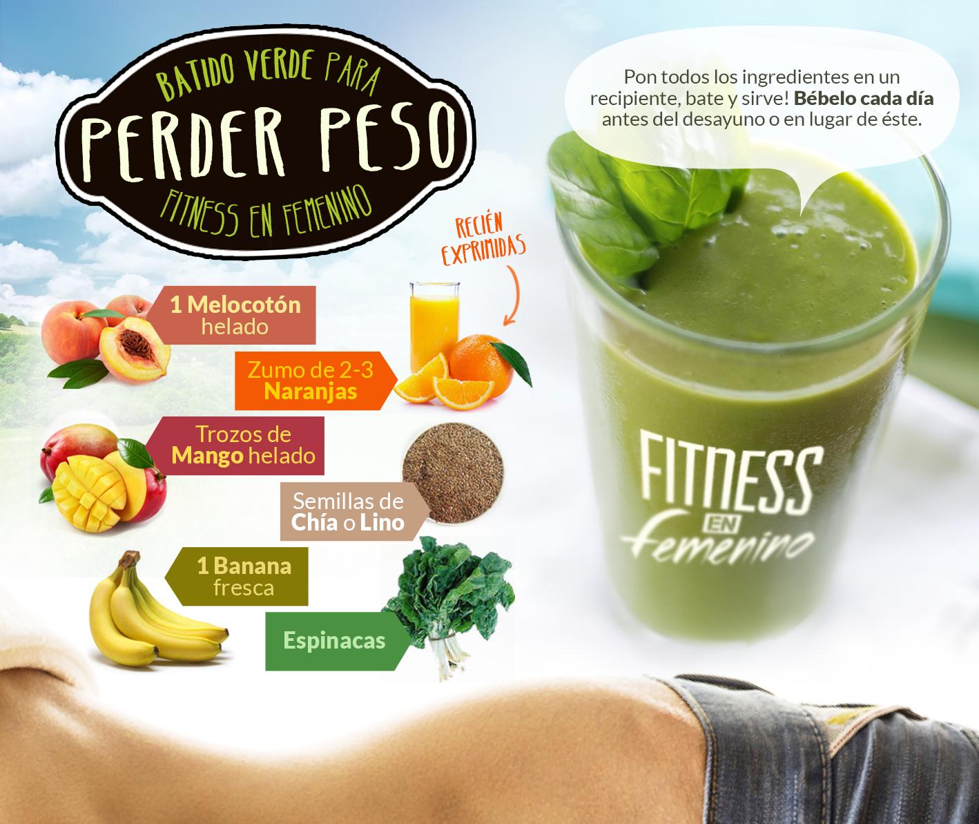 Batidos verdes para bajar de peso