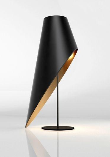 Schwarz/Gold Stehlampe