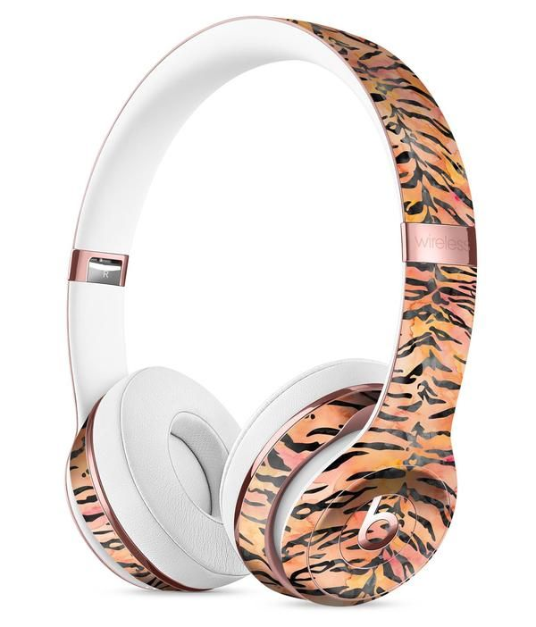 Watercolor Tiger Pattern Full-Body Skin Kit for the Beats by Dre Solo 3 Wireless Headphones