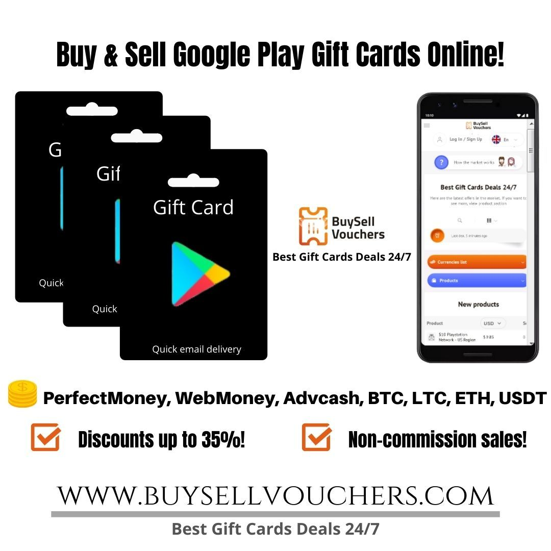 Buy And Sell Google Play Gift Cards With Cryptocurrency And E Currency Google Play Gift Card Sell Gift Cards Best Gift Cards
