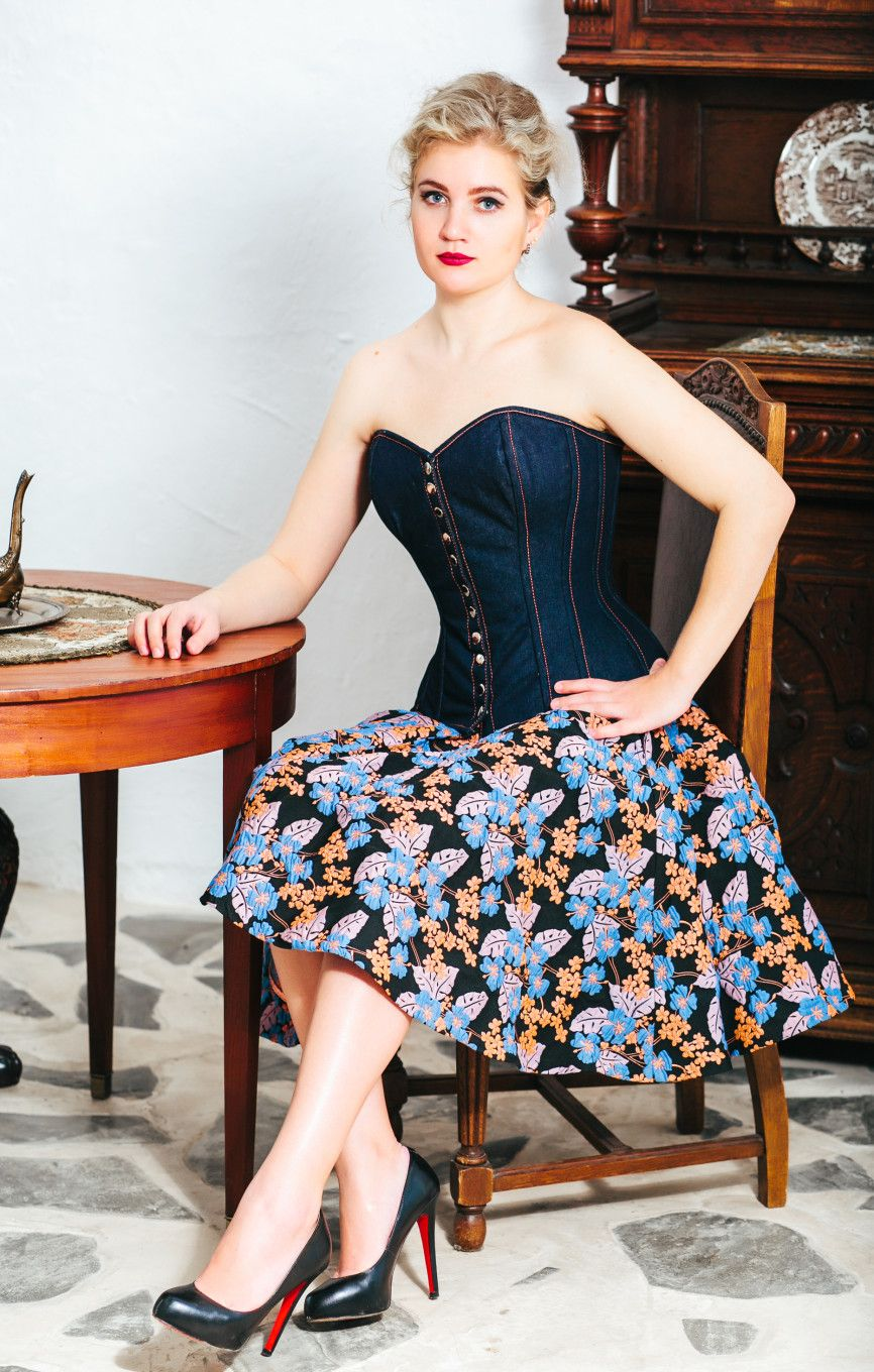 5d736ec3b5 Denim overbust corset from Corsettery Western Collection