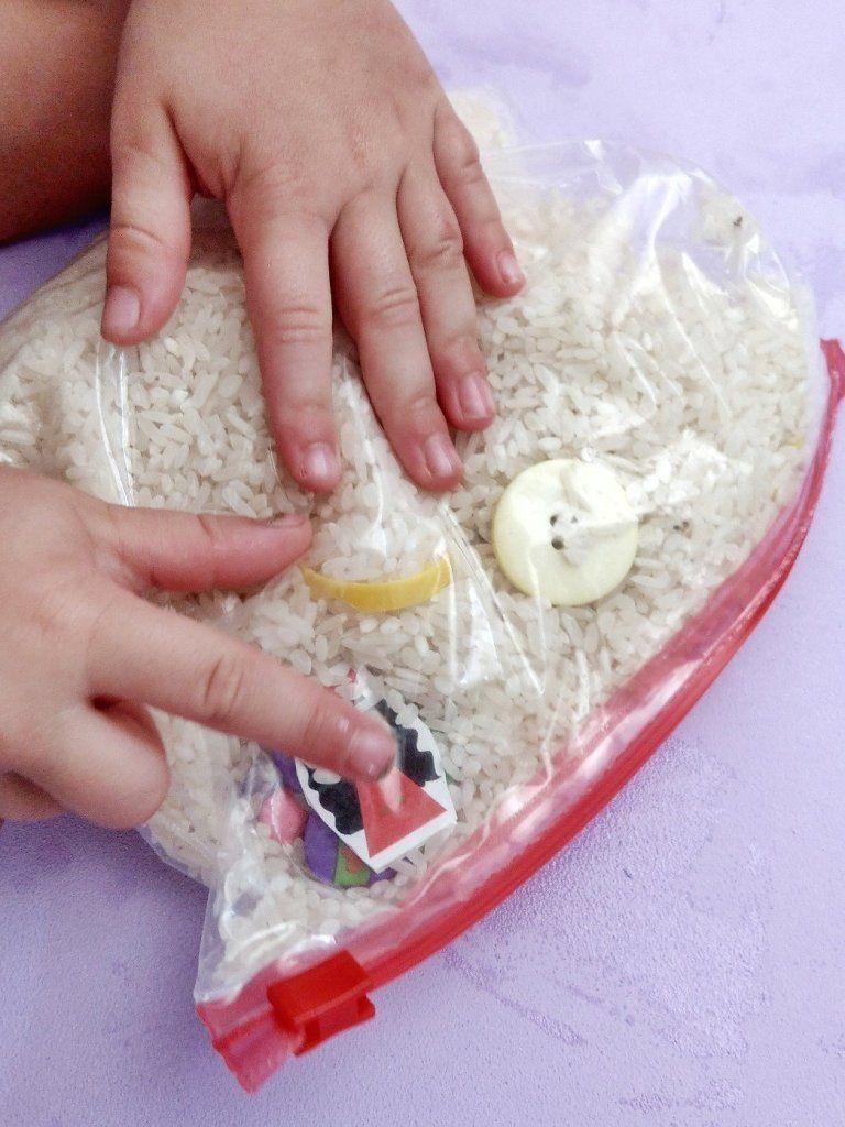 6 verschiedene Sensorik Beutel – einfache Spielidee für Kinder – kleinliebchen