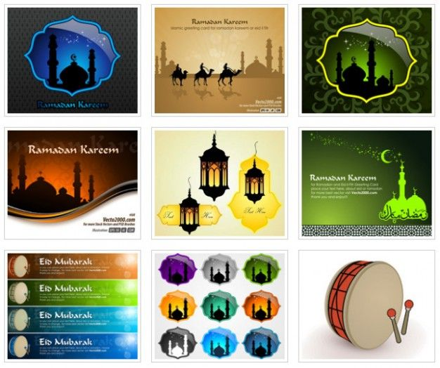 Islamic Greeting Card Template For Ramadan Kareem Eidilfitr - greeting card template