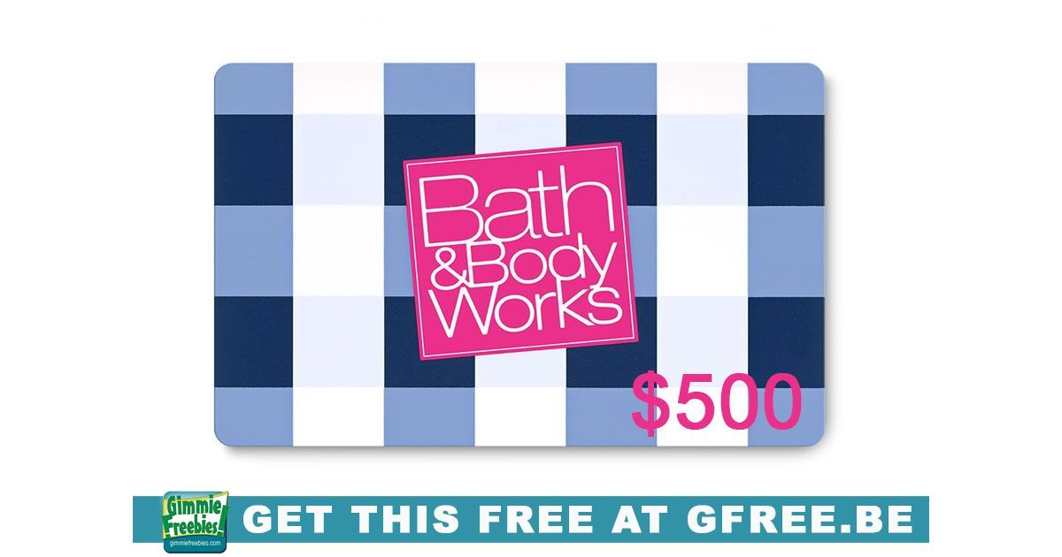 Free 500 bath and body works gift card gimmiefreebies