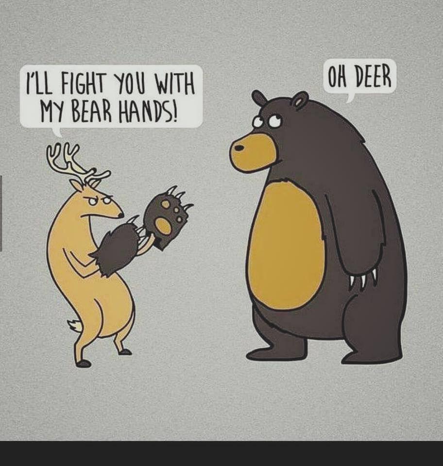 Bear Hands Pun Puns Nerd Stuff Funny Pictures Puns Funny