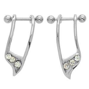 Helix Ear Cuff Pair - Clear CZ
