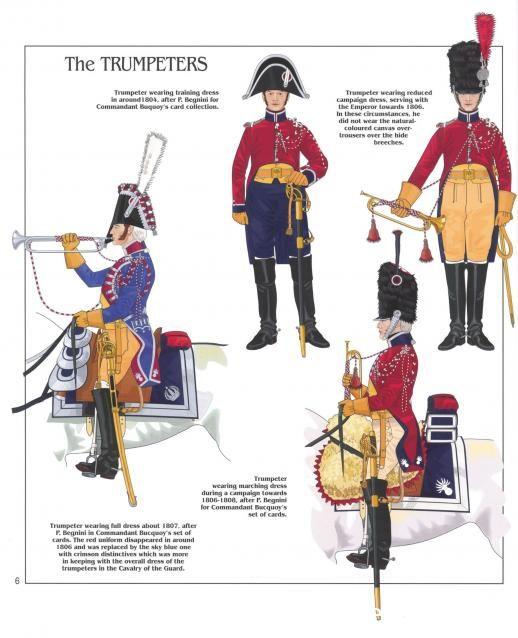 Trombe della gendarmeria a cavallo della guardia imperiale