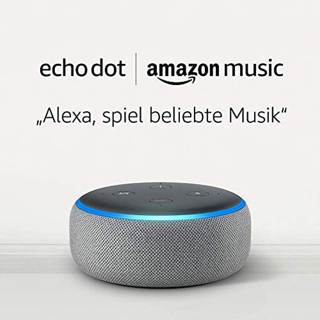Echo Dot 3 Gen Hellgrau Stoff Amazon Music Unlimited 6 Monate Gratis Danach Kostenpflichtig Amazon Echo Stoffe Kostenlose Musik