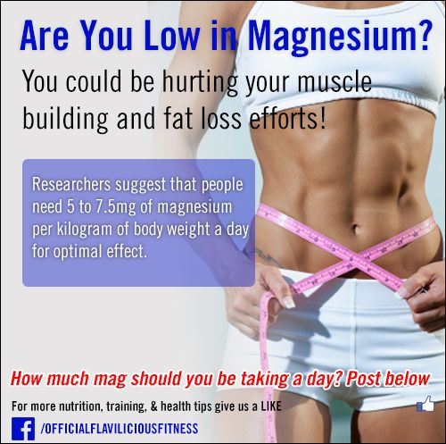 Are you Low in Magnesium?? ____________________________ Test your nutrition knowledge: http://www.flaviliciousfitness.com/quiz/TrainingKnowledge